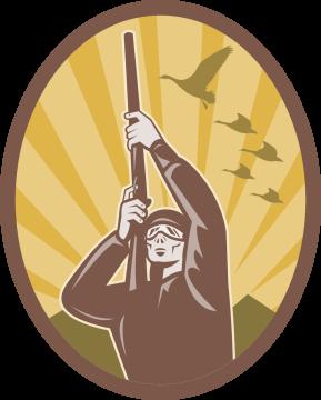 Autocollant Chasse Oiseau 2