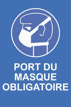 Autocollant Affiche Port du Masque COVID-19