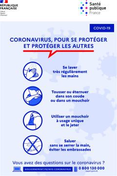 Autocollant Affiche Consignes COVID-19