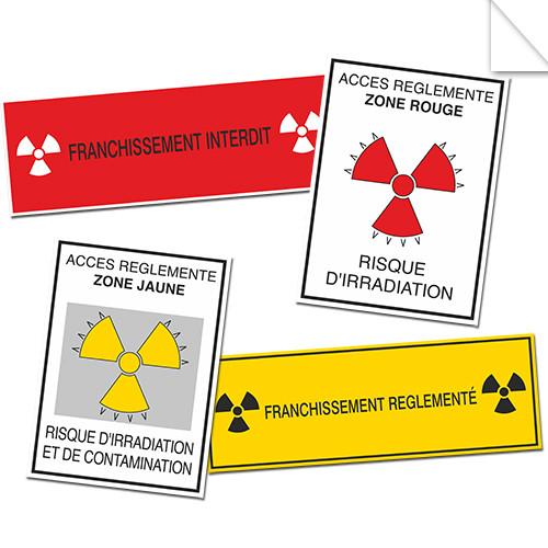 Autocollants Danger Radioactivité