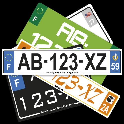 Plaques Auto LUXE en Plexiglass ( nouveau n° )