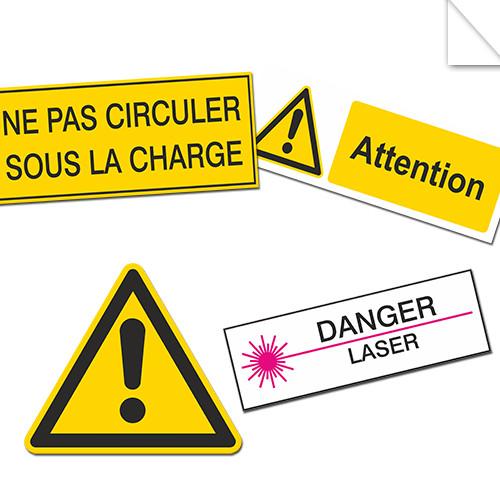 Autocollants Danger et Avertissement