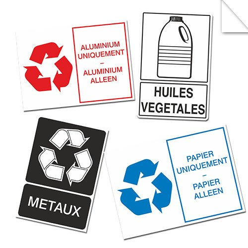 Autocollants Informations Recyclage