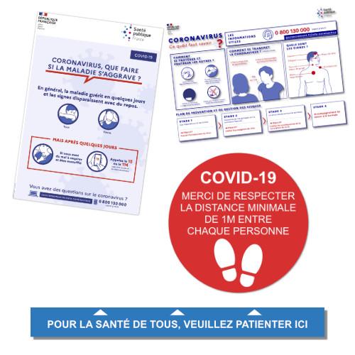 Autocollants COVID-19 Coronavirus