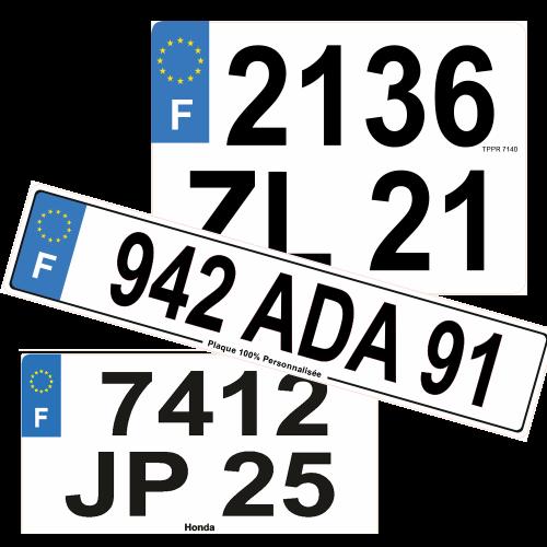 Plaques Auto LUXE en Plexiglass ( ancien n° )