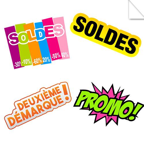 Autocollants Soldes et Promotions