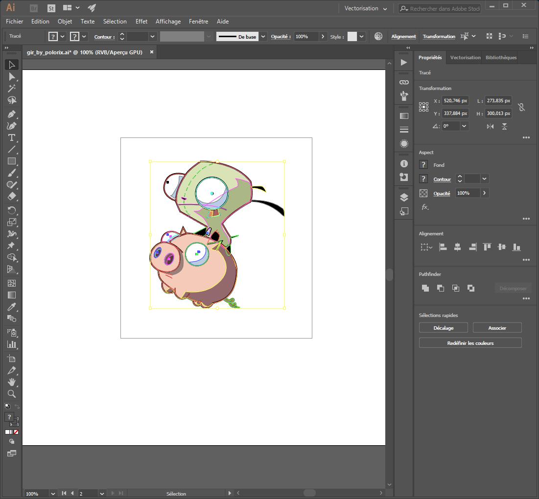 step 2 - criar um caminho de corte sobre um desenho vectorial com ilustrador
