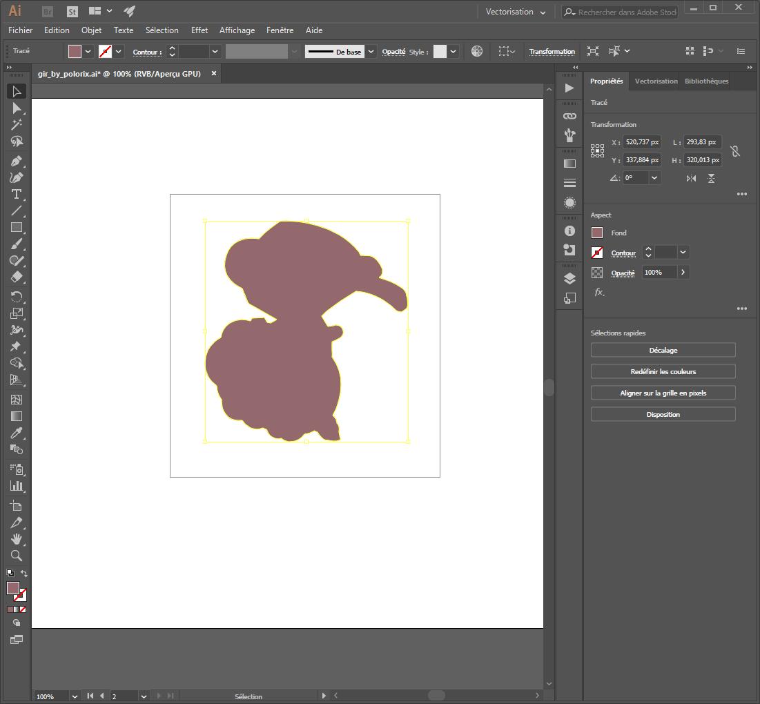 etape 6 - créer un cutpath sur un dessin vectoriel avec illustrator