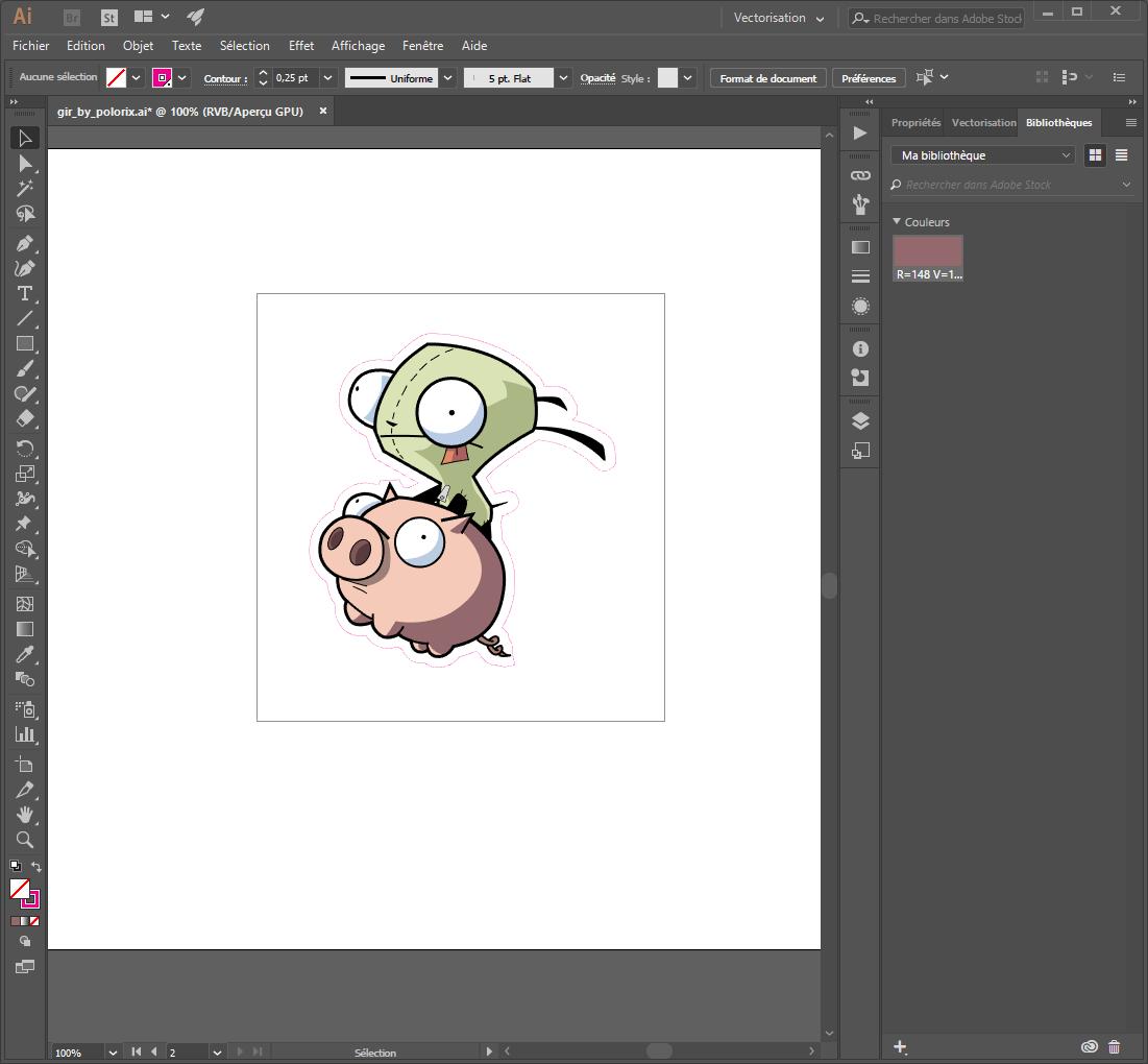 passo final - criar um caminho de corte num desenho vectorial com ilustrador