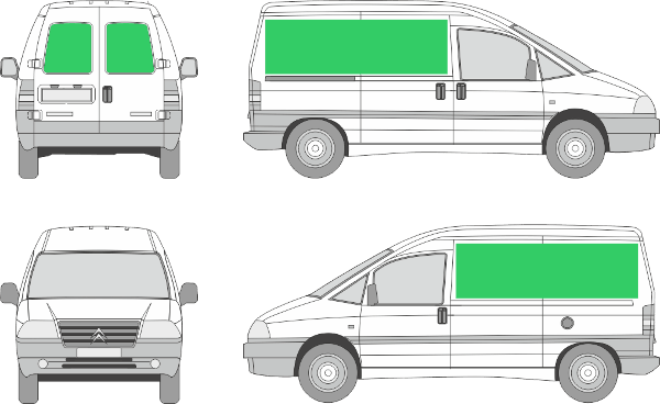 Citroën Jumpy L1H1 (2000-2006)
