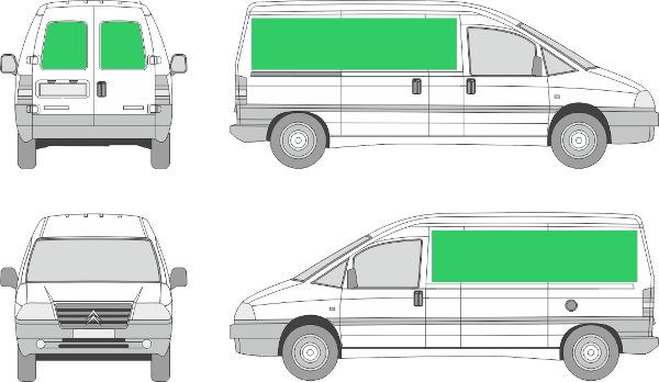 Citroën Jumpy L2H1 (2000-2006)
