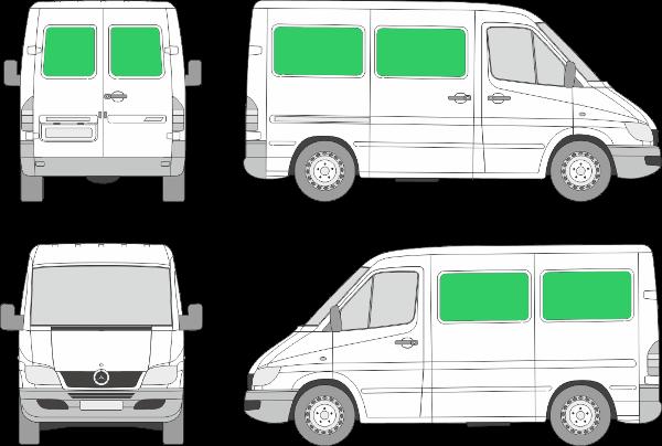 Mercedes Benz Sprinter L1H1 (2000-2005)