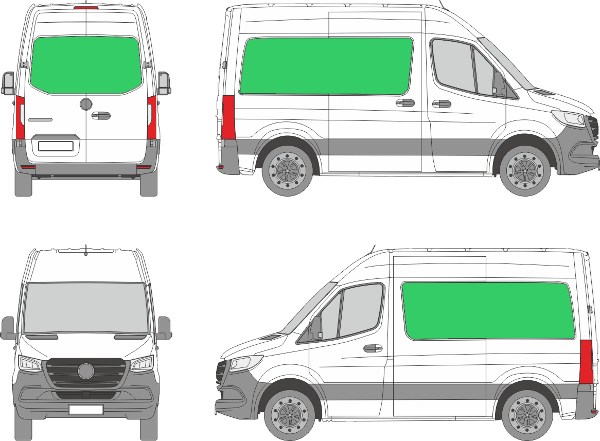 Mercedes Benz Sprinter L1H2 (2018-2021)