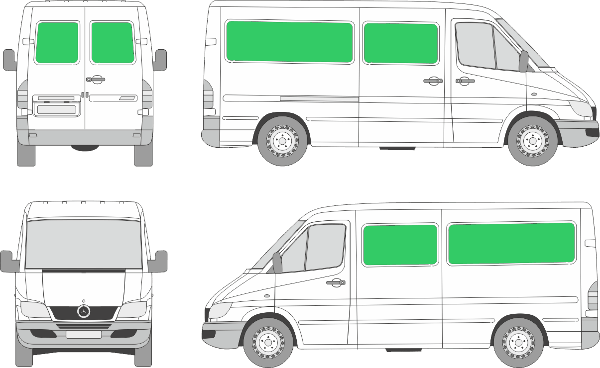 Mercedes Benz Sprinter L2H1 (2000-2005)