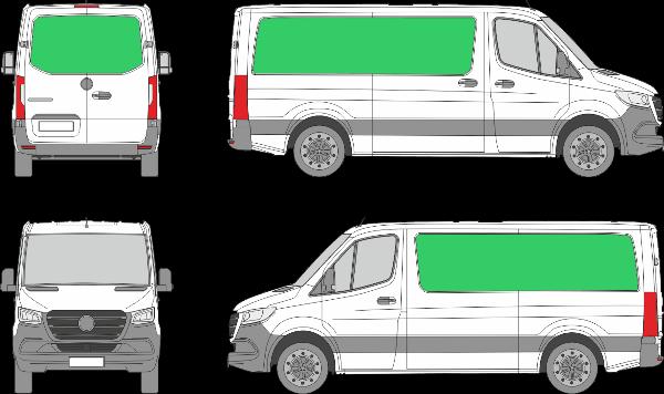 Mercedes Benz Sprinter L2H1 (2018-2021)