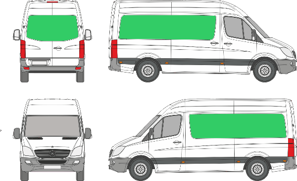 Mercedes Benz Sprinter L2H2 (2006-2017)