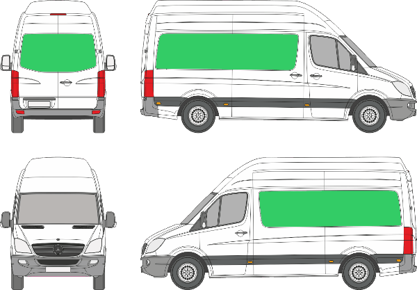 Mercedes Benz Sprinter L2H3 (2006-2017)